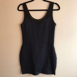 NWOT Express Bodycon Navy and Black Sexy Dress